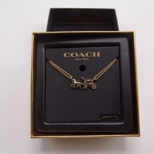 COACH Horse and Carriage Double Chain Necklace